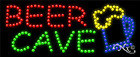 """BRAND NEW """"BEER CAVE"""" 27x11 SOLID & ANIMATED LED SIGN W/CUSTOM OPTIONS 21176"""