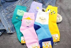 Adventure Time waist Socks middle Cut Ankle Sock 3D warm Cotton jake finn socks
