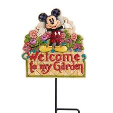 Jim Shore Welcome to My Garden Plaque Mickey Disney Traditions 4016525