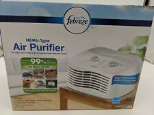 Febreze Tabletop Air Purifier Fht170W, White, clean filter for home, Hepa-Type