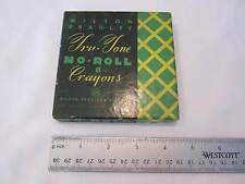 VINTAGE MILTON BRADLEY TRU TONE NO ROLL CRAYONS #9157 - SMALL BOX