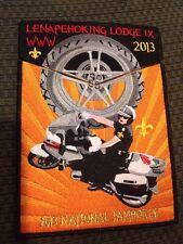 MINT 2013 Jamboree OA 2 Piece Flap Lodge IX 9 Lenapehoking BMW Motorcycles
