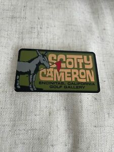 "Scotty Cameron NEW 2021 Gallery JACK The DONKEY • PINFLAG Sticker ""Olive"""