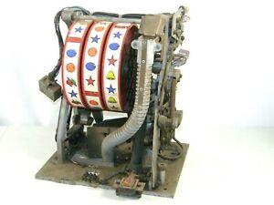 Vintage 3 Reel 5 Cent Nickle Slot Machine Mechanism Chassis Parts