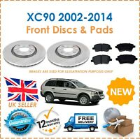 For Volvo XC90 2002-2014 Two Rear Vented 308MM Brake Discs & Brake Pads Set New