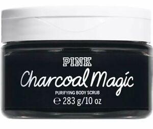 New In Box Victoria's Secret Charcoal Magic Purifying Body Scrub 10 Oz.