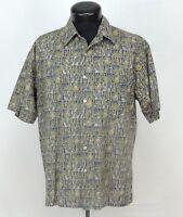 VTG Made Hawaii Hawaiian Shirt Aloha Tori Richard Tribal Palm Pineapple Tiki M