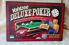 Yahtzee deluxe poker, Parker Brothers, 2005, complete, VGC, adult dice game