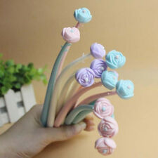 Cute 12pcs Flower Writing Pens Home School Office Party Supplies Gel Pen Gifts