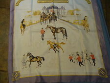 Hermes silk scarf, LES HARAS NATIONAUX with box