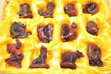 "Set of 12 Red 3"" Animal Zodiac Set Chinese New Year Housewarming Gift US Seller"