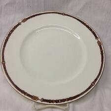 """RALPH LAUREN CHINA WEDGWOOD EQUESTRIAN DINNER PLATE 10 3/4"""" YELLOW & BROWN BELT"""