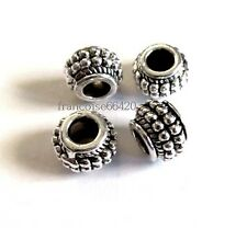 5 pcs PERLES / INTERCALAIRE SPACER GROS TROU 9X7mm / APPRETS CREAT BIJOUX #A391