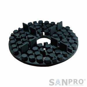 10x SANPRO Rubber Plattenlager/Stilts Bearing - 2 MM Fugue - Stackable From