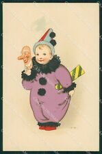 Fritz Baumgarten Pierrot Carnival Meissner Buch serie 2005 postcard QT6792