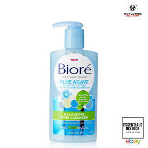 Biore Blue Agave Baking Soda Pore Balancing Cleanser for Combination Skin 200ml