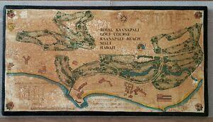 Rare 1968 Royal Kaanapali Golf Course - Maui, Hawaii - Visual Survey Art