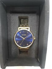 NEW Nixon ARROW Women's Watch rosé gold /Indigo A10912890-00