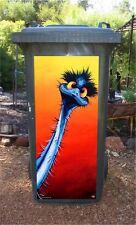 NEW Wheelie BIN Sticker Stunned Emu