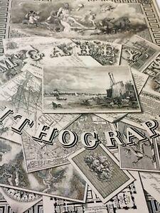 "John McGahey Stone Engraved Illustration Poster Book Print New 12 1/4"" x 10 1/2"""