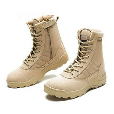 Men Army Tactical Leather Combat Military Ankle Boots Desert SWAT Shoes Patrol