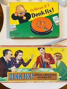 Denk Fix - alte Gesellschaftsspiele antik/retro