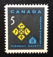 Canada #447 MNH, Highway Safety - Traffic Signs Stamp 1966