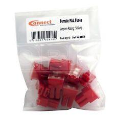 Conecte Fusibles-Hembra Pin Pal-Rojo - 50 A (30478) - Paquete de 10