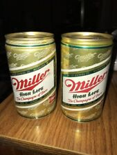 Miller High Life Beer Can Piggy Coin Bank Lot Of 2