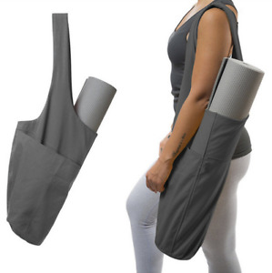 Large Storage Foldable Yoga Mat Bag Fitness Exercise Gym Mat Tote Sling Carrier