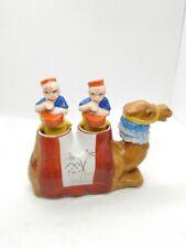 Vintage Salt & Pepper Shakers Camel Balancing Nodder Men Playing Drums Japan