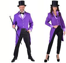 Gent's Purple Tailcoat Jacket - Joker / Show / Cabaret / Clown