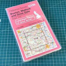 1984 Landranger 119 Edition 4 Buxton, Matlock and Dove Dale Ordnance Survey Map
