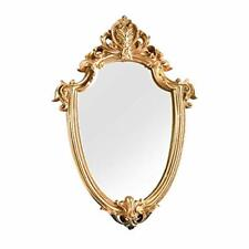 """Decorative Wall Mirror,Vintage Carved Hanging Mirrors for Bedroom Gold 8.6""""x12"""""""
