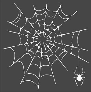 1- 8x8 inch Custom Cut Stencil, (VE-70) Spider Web
