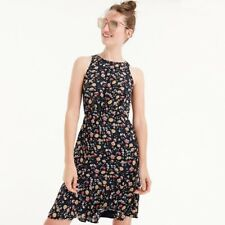 J Crew Mercantile Drapey Ruched Waist Floral 4 Navy Floral NWT