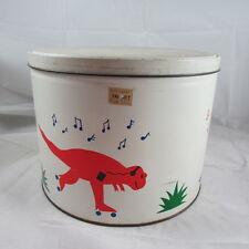 Skating Dinosaurs with Walkman Radios Copper Popper Popcorn Tin