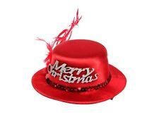 Mini chapeau de noël rouge avec 2 mini pince barrette de cheveux femme wm-131