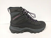 """Merrell Thermo Chill 6"""" Shell Waterproof Boots, Black, Womens 8.5 M"""