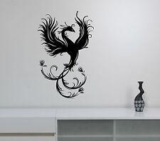 Phoenix Bird Wall Decal Fantasy Animal Vinyl Sticker Bedroom Spiritual Decor 1ph