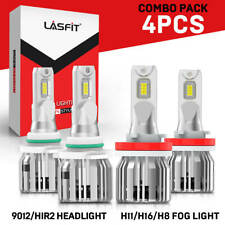 Combo LED Headlight Bulb 9012 H11 for GMC Acadia 13-2019 High Low Beam Fog Light