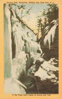 Postcard Rainbow Falls Watkins Glen State Park New York Wintertime