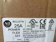 New Allen Bradley 25B-D037N114 /A PowerFlex 523 AC Drive 480V 37A 25HP