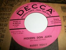 BUDDY HOLLY MODERN DON JUAN-YOU ARE MY ONE DESIRE 1956 VERY RARE SAMPLE COPY PRO