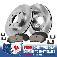 Front OE Disc Brake Rotors & Ceramic Brake Pads For Scion IQ Toyota Prius Yaris