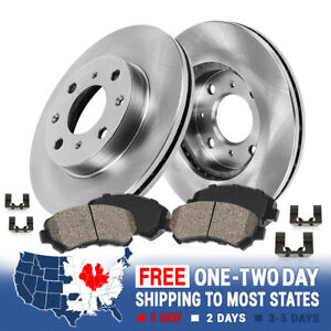 Max Brakes Front Premium Brake Kit OE Series Rotors + Ceramic Pads KT039741 Fits: 2014 14 2015 15 Toyota Yaris w//Rear Drum Brake