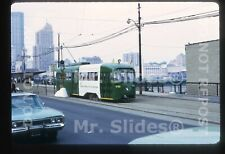 Original Slide Streetcar / Tram:  PATransit Special Paint PCC 1782 In 1973