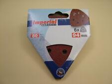 Delta triangle detail sander hook & loop discs 94mm, pack of 6, 80 grit medium