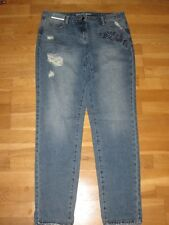 next boyfit mid rise ripped jeans size 16 Tall  leg 35 brand new with tags