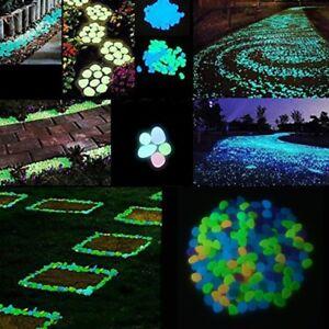 Glow in the Dark Pebbles Resin Stone For Home Garden Walkway Fish Tank Aquarium